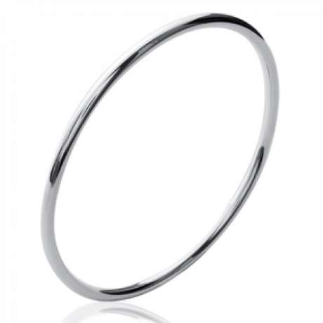 Bracciale Bangle Simple Argento Sterling 925 Rodiato - Donna - 62mm