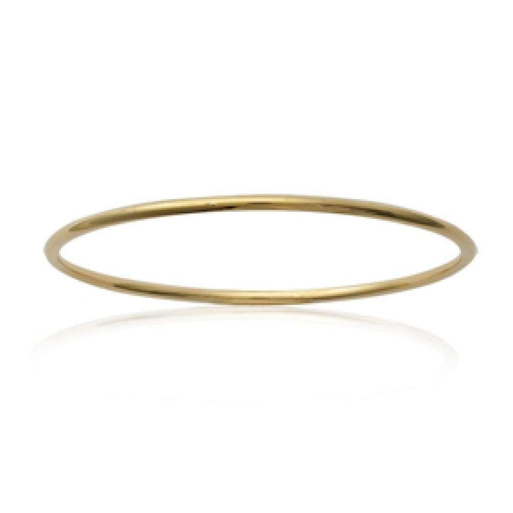 Bangle Simple Gold plated 18k - for Children - 62mm