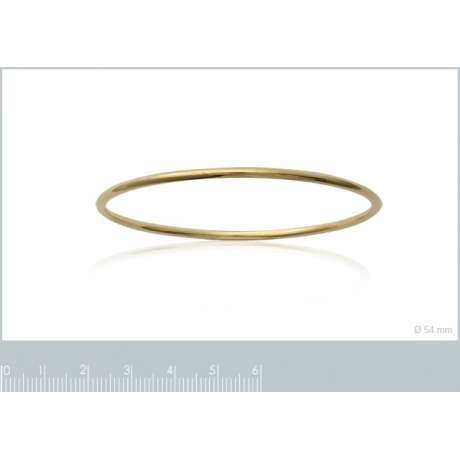 Bracciale Bangle Simple Placcato in oro 18k - 66mm
