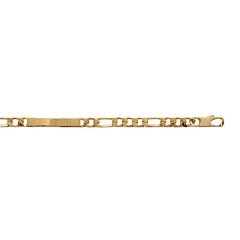 regarder 79599 a0925 Bracelet Plaqué Or Gravable - Homme/Femme - 20cm