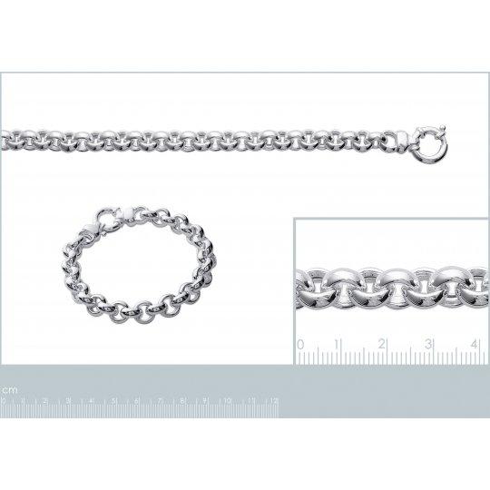 Necklace Gros maillage anneaux Sterling Silver - Women - 45cm