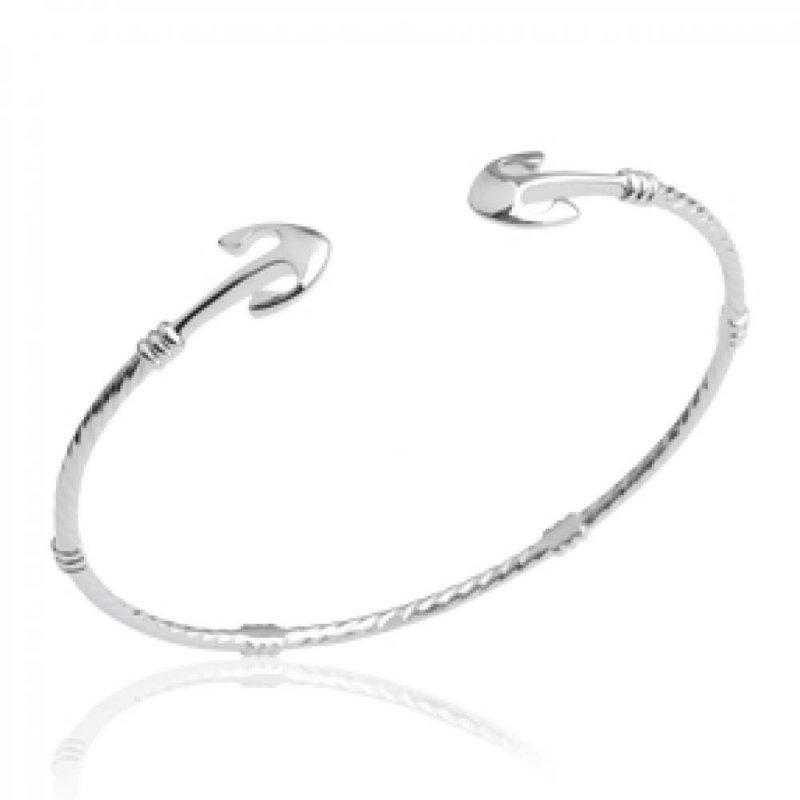 Armband Anker marine Ouvert 925 Sterling Silber rhodiniert - Damen - 56mm