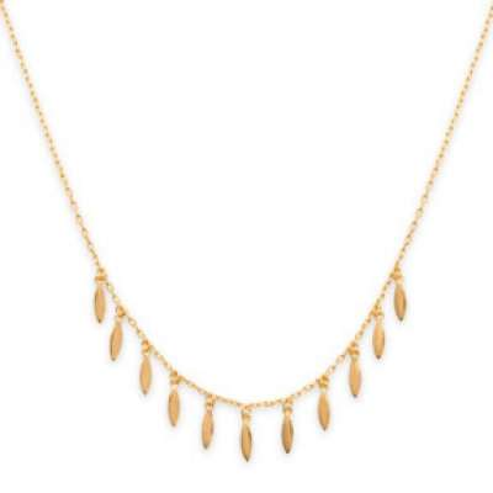Halskette Breloque Gipsy bohème Vergoldet 18k - Damen - 45cm
