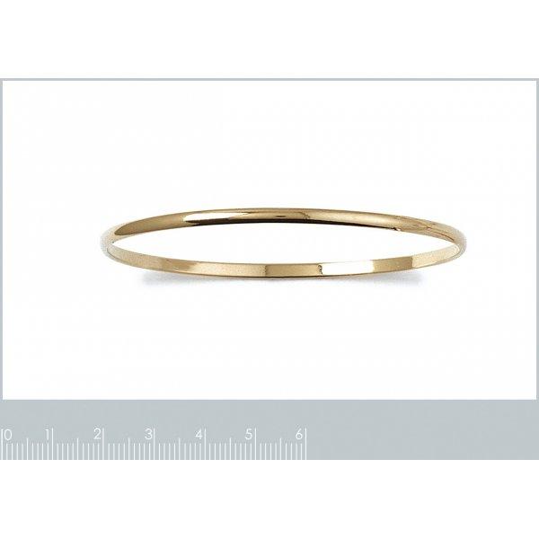 Demi-Bracciale Bangle Simple Placcato in oro 18k - Donna - 62mm