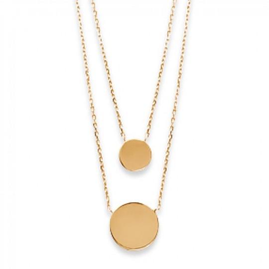 Double Collana Médaillons Da Incideres Placcato in oro...