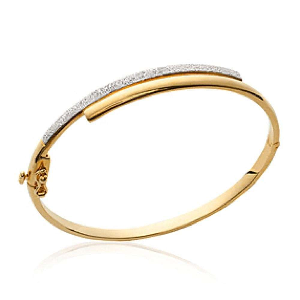 Bracciale Bangle Placcato in oro 18k - Bicolore - Donna - 58mm