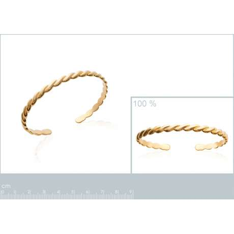 Demi-Bracciale Bangle Tressé Placcato in oro 18k - Donna - 58mm