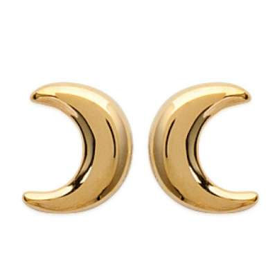 Earrings puces Crescent Moon Gold plated 18k - Women