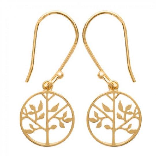 Earrings Crochets Arbre de vie Gold plated 18k