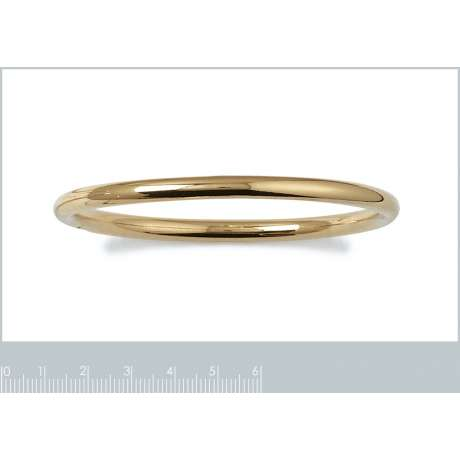 Bracciale Bangle Largeur 5mm Placcato in oro 18k - Donna - 66mm