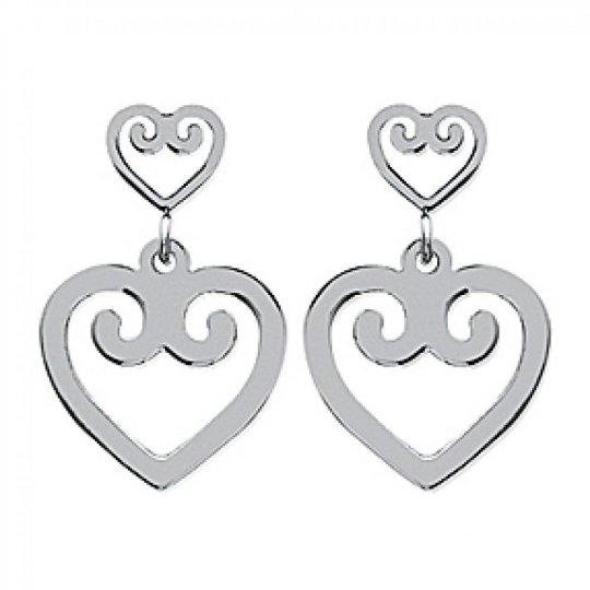 Earrings Hearts  Acier 316L - Women