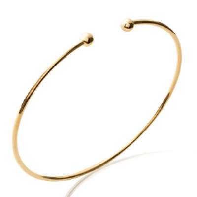 Armband Ouvert Simple Vergoldet 18k - Petites Ball - 56mm