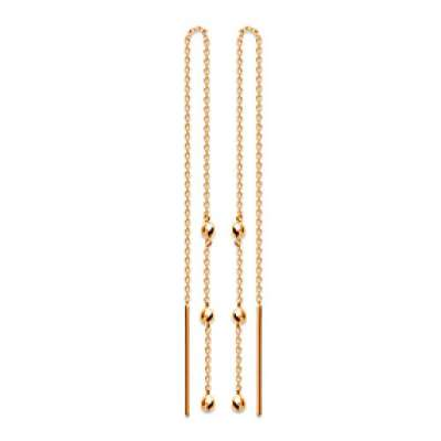 Earrings Traversantes Balls Gold plated 18k - Women