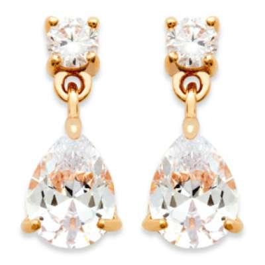 Earrings Pierre  Translucide Gold plated 18k