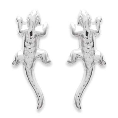 Ohrringe puces Margouillat Gecko 925 Sterling Silber - Damen