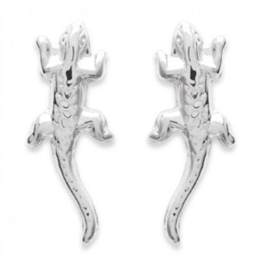 Pendientes puces Margouillat Gecko Plata de ley 925 - Mujer