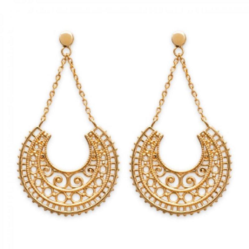 Earrings Gipsy Bohémiennes Gold plated 18k - Women