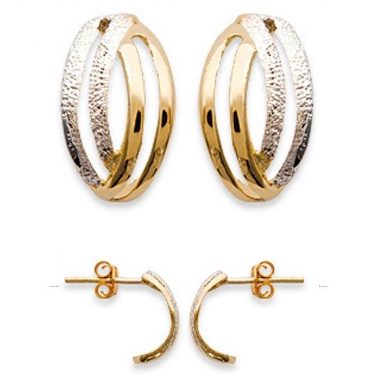 Demi-Hoop Earrings Gold plated 18k -  - Women